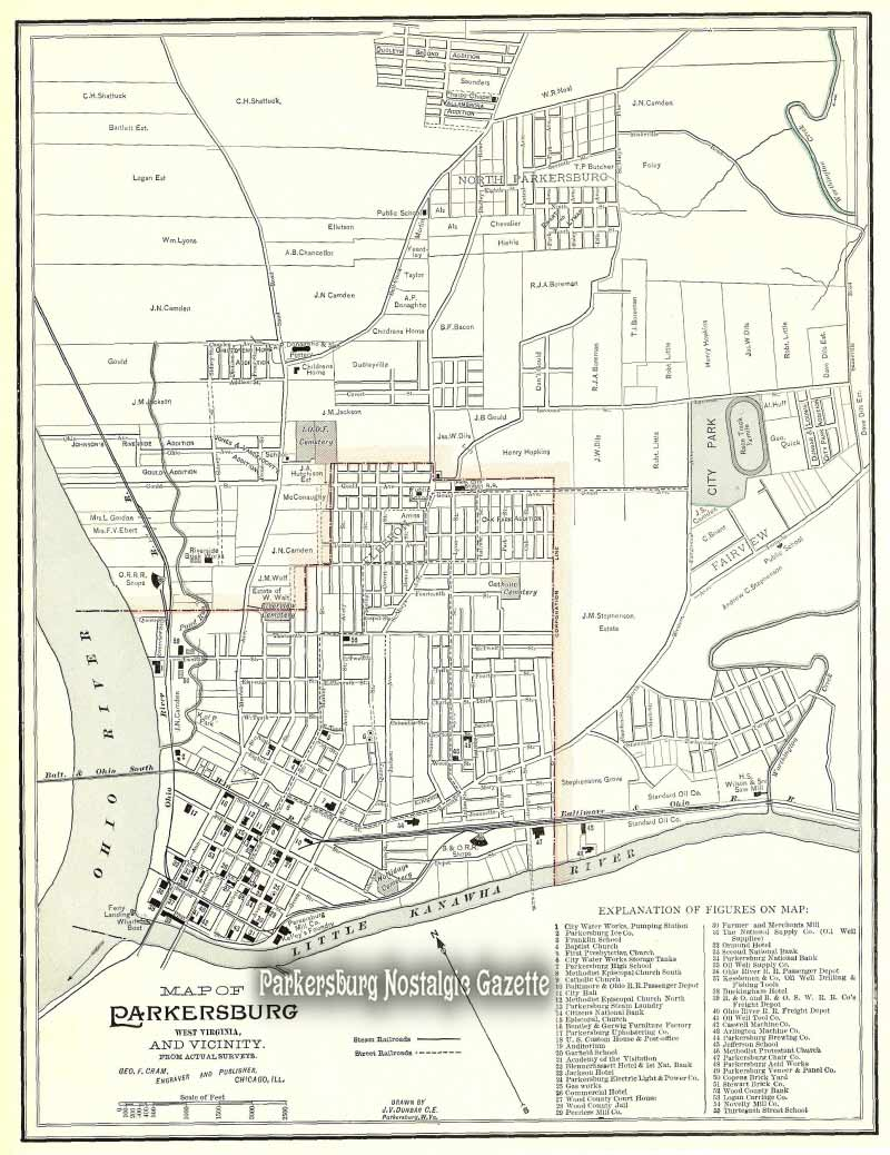 Parkersburg West Virginia Map.Parkersburg Nostalgic Gazette